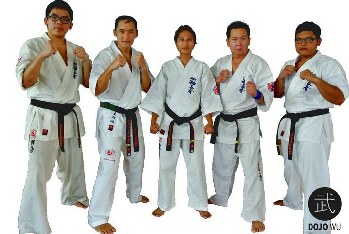 L-R: Sensei  Jie Jun, Sensei Melvern, Sensei Carolyn, Sensei Jimmy and Sensei Hariz