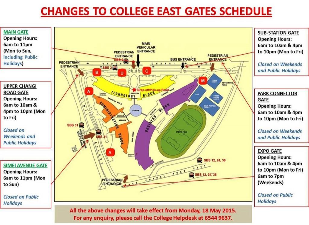 Dojo ITE gate schedule