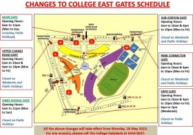 Dojo ITE CE's gate schedules